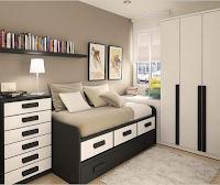pilihan desain dan model kamar tidur kecil ukuran mungil