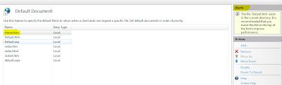 IIS - Add Custom Default Document