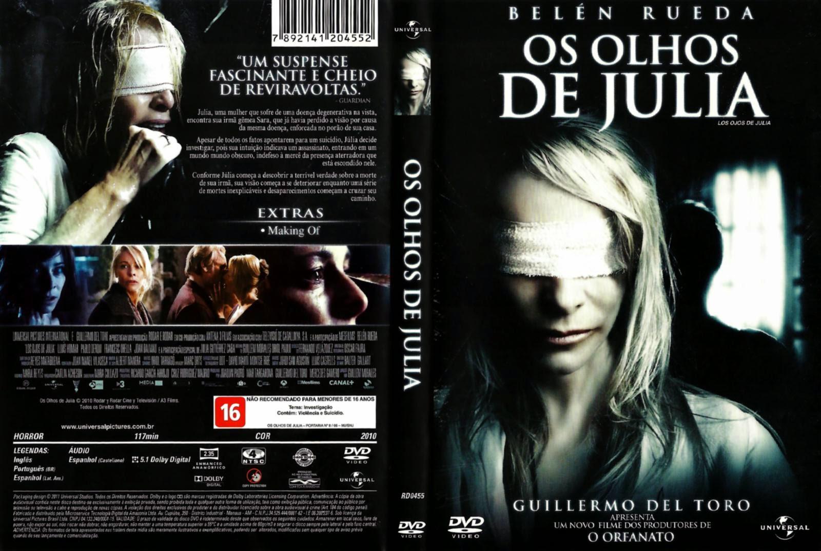 Filme Os Olhos de Julia DVD Capa