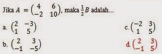 Contoh Soal Matematika Ujian Nasional SMA/SMK 2015