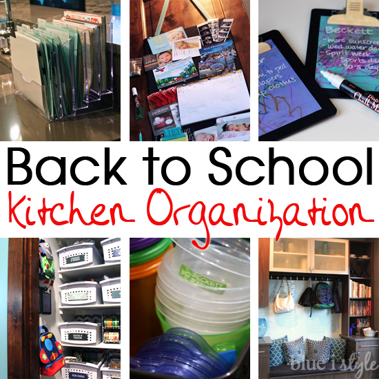 featured back to school kitchen organization blue i style