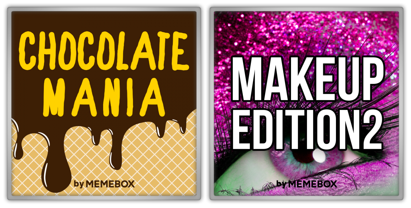 Memebox Special #45 Chocolate Mania Superbox #64 Makeup Edition #2 valueset banner 미미박스 Commercial