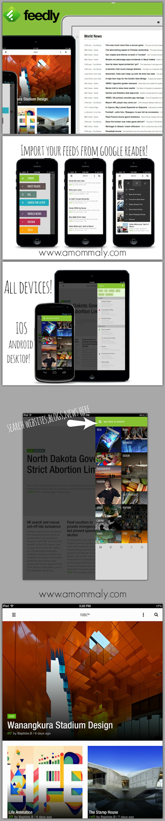 feedly and bloglovin: Replacing Google Reader via amommaly.com