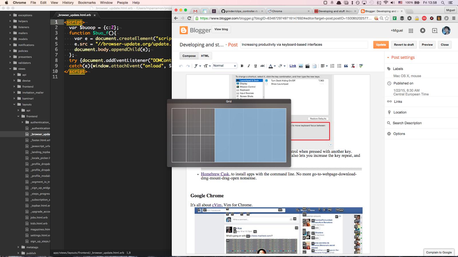 Mac OS X setup for Web Development
