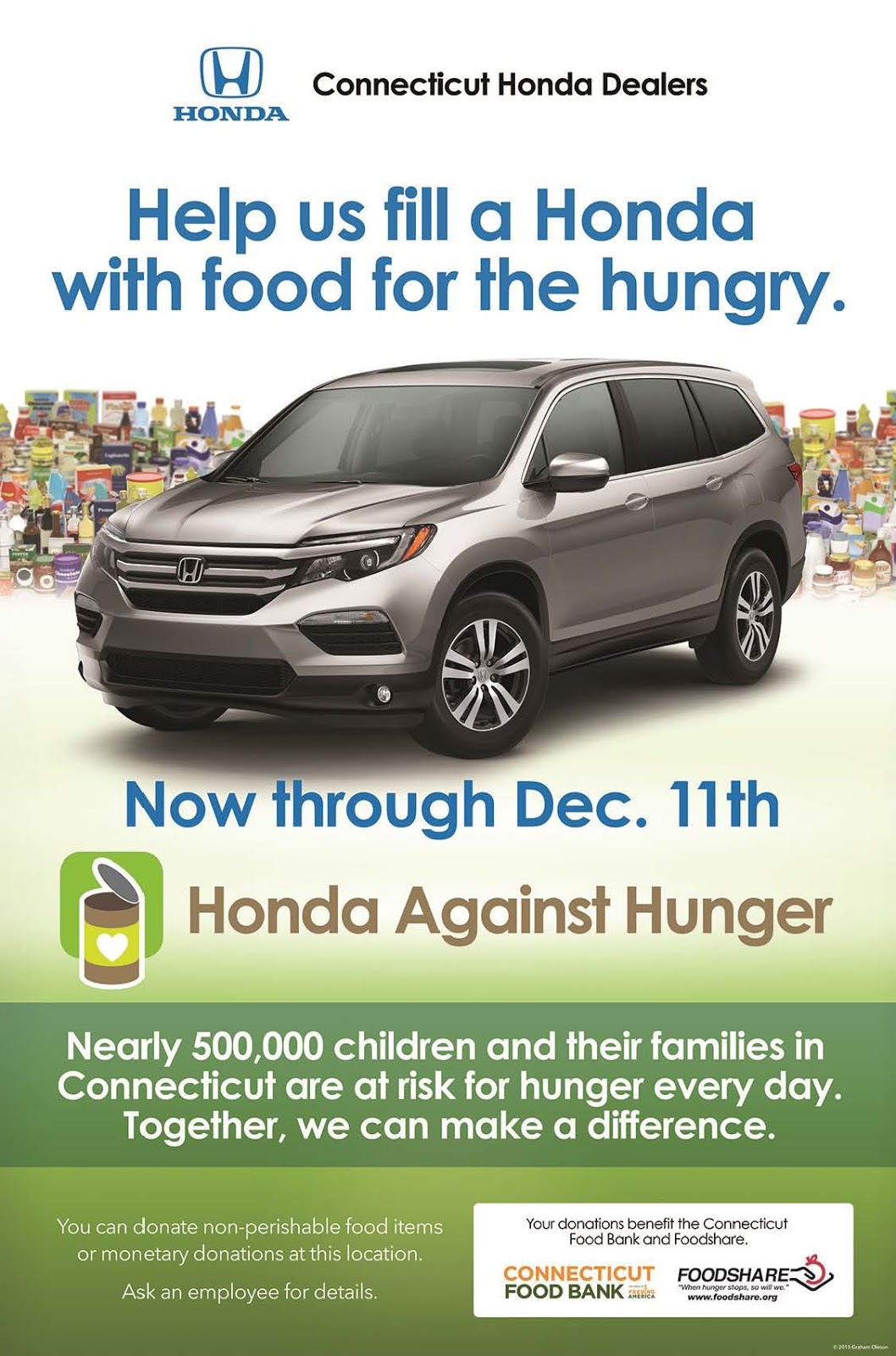 Foodshare a movement to solve hunger fill a honda now for Honda dealers in ct