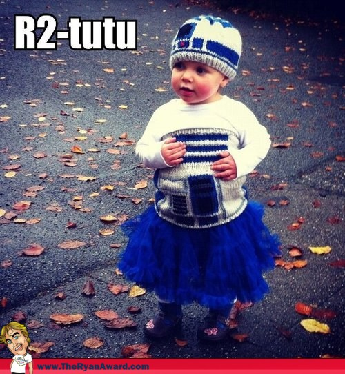 Win! Awesome Toddlers Halloween Costume R2-Tutu  R2D2