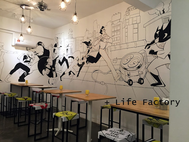 Superheroes theme, Go Getter Cafe, Bukit Jalil, Food in KL