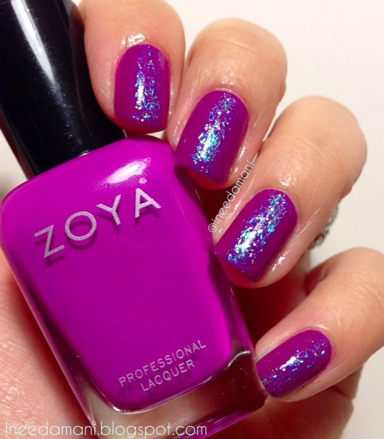 zoya charisma glitter stripe nails