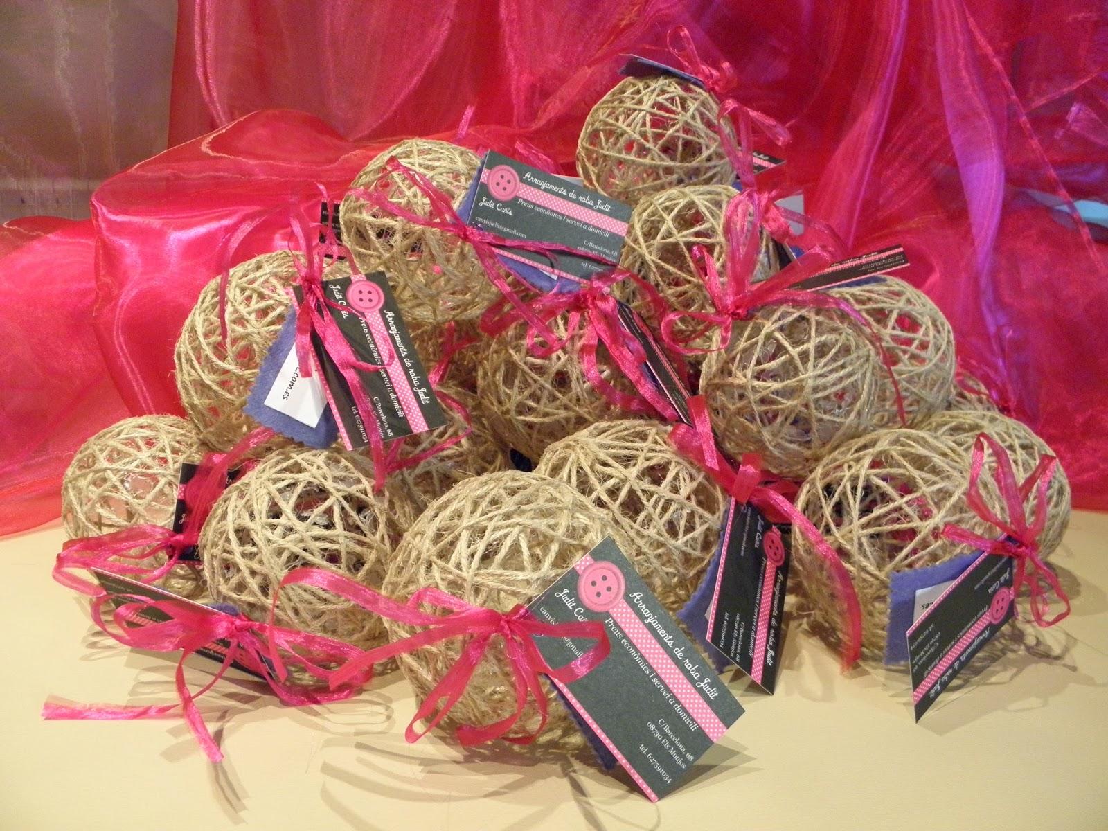 Proyectos bolas de hilo sisal para decorar - Bolas de hilo ...