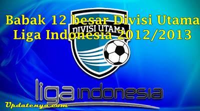 Hasil Pertandingan 12 Besar Divisi Utama Jumat, 30 Agustus 2013