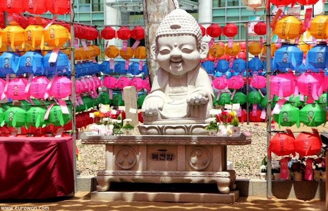 Estatua de Buda en el templo Jogyesa