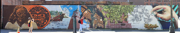 Pioneer Square Mural - Seattle Symbols - The Originale
