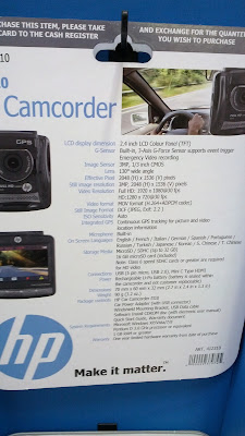 HP F310 video camera comes with 2.4in display