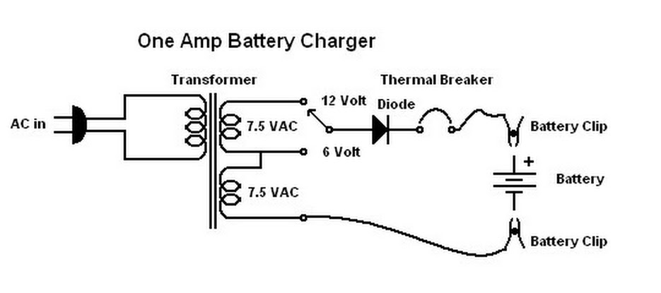 An Old Technician's Work Bench: One Amp Battery Charger Schumacher Battery Charger Wiring Diagram Se Ma on