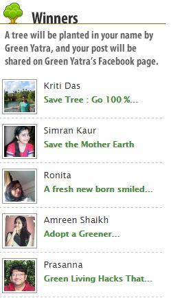 A tree will be planted with name - SIMRAN KAUR :)  Thank you so much IB and Green Yatra Team