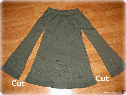 короткое легкое платье. From maxi skirt to dress
