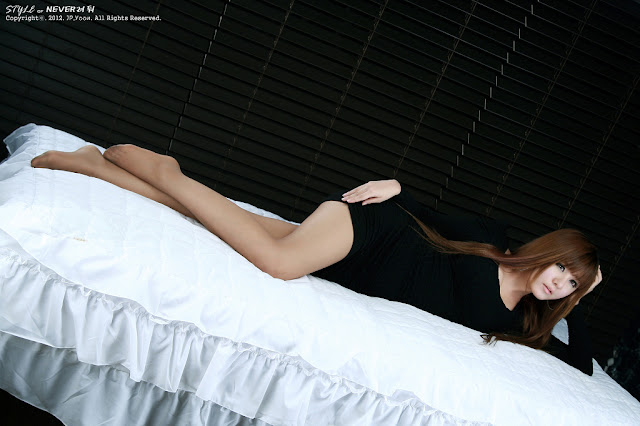 4 Ryu Ji Hye in Black-very cute asian girl-girlcute4u.blogspot.com