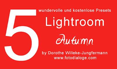 5 kostenlose Presets Lightroom Autumn von der Fotoschule Fotodialoge