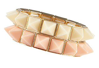 Aldo gold, coral and cream bracelet