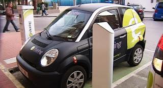 El coche eléctrico no arranca.