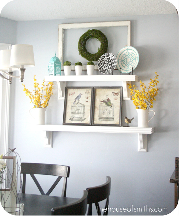 Hanging Open Kitchen Shelves: Everyday Kitchen Shelf Decor
