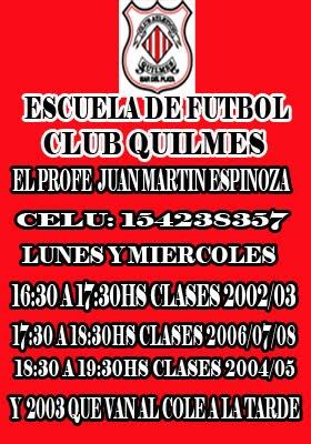 CLUB  QUILMES ESCUELITA DE FUTBOL
