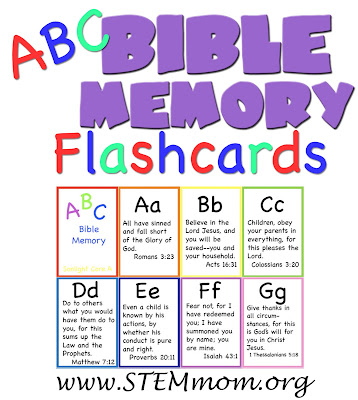 ABC Bible Memory Flashcards: Free Download from STEMmom.org
