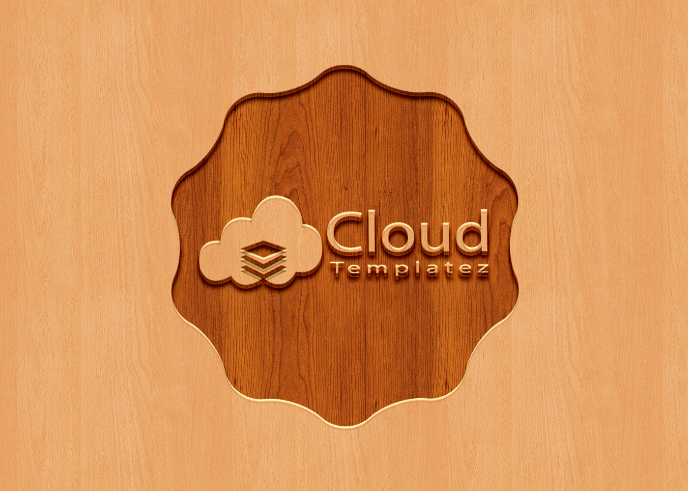 Carved Wood Logo Mockup PSD Free - Cloud Templatez - All Free ...
