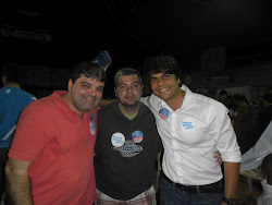 Otavio Greco e Eduardo Greco Junto com o amigo Pedro Paulo