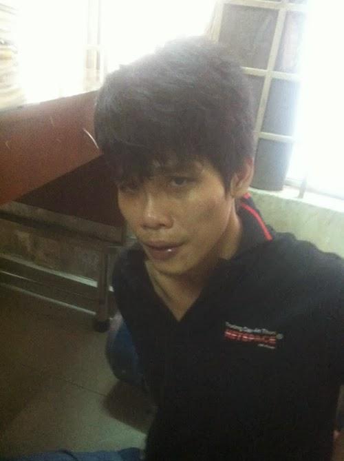 Phúc bị băt giữ - Ảnh: Mã Phong