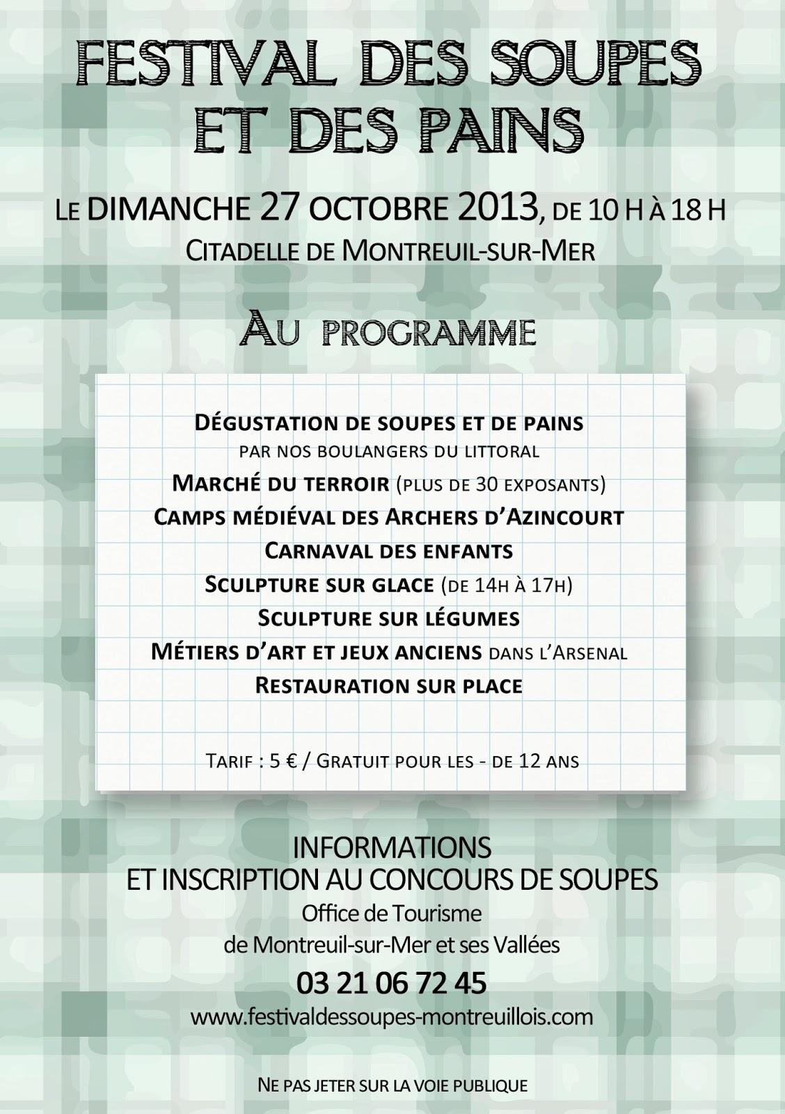 Festival des soupes l 39 affiche 2013 - Office tourisme montreuil sur mer ...