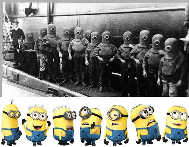 nazis, niños judíos y minions