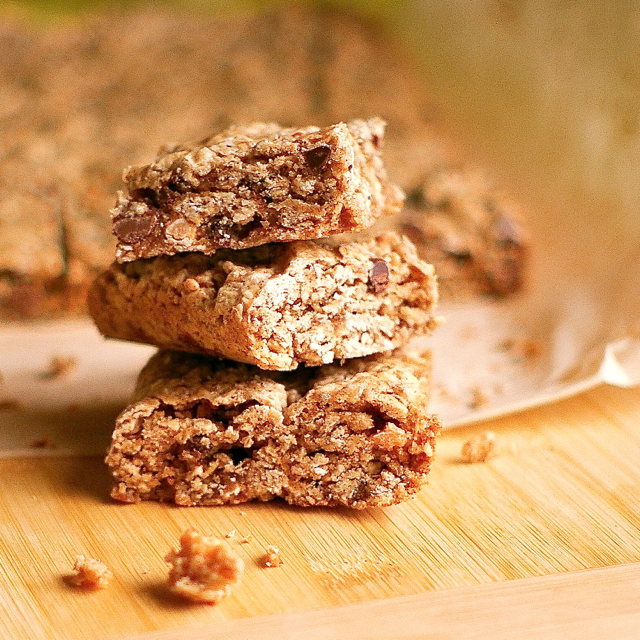 Chocolate Butterscotch Oatmeal Cookie Bars