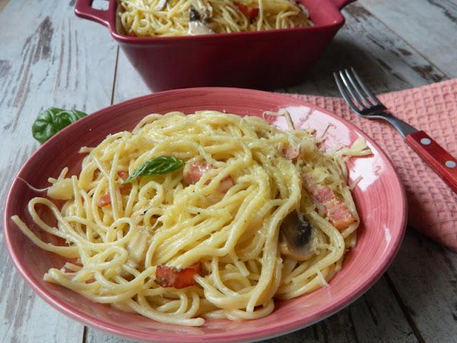 Spaghetti cu kaiser si ciuperci