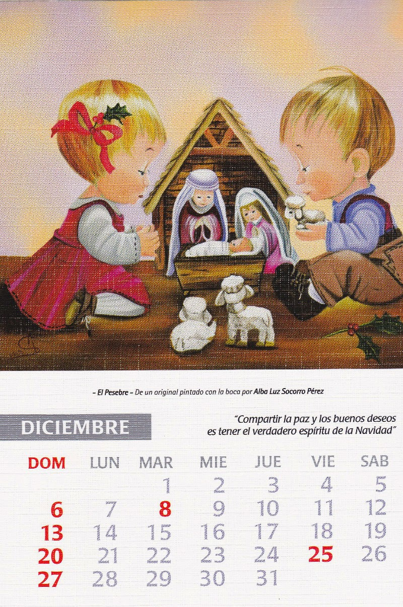 calendario 2015 diciembre