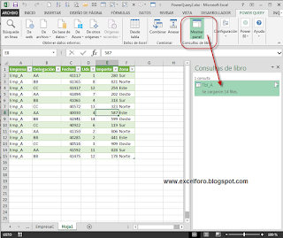 Consolidando datos de orígenes diferentes con Power Query en Excel.