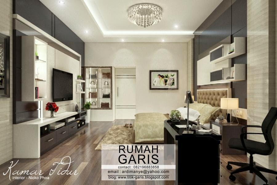contoh kombinasi paduan warna cat di interior dapur rumah