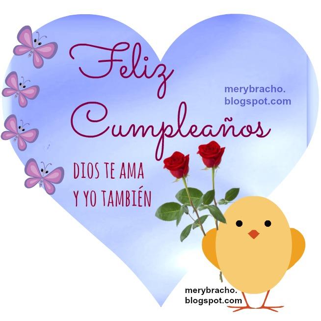 Linda imagen con mensaje cristiano de Dios te ama feliz cumpleaños. Feliz deseo de cumpleaños con imagen cristiana para mujer, dama, mamá, hija, niña, hermana.