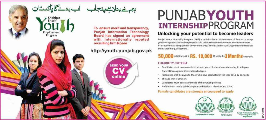 PYIP 2013 Punjab Youth Internship Program 2013