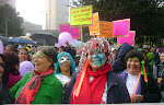Mujeres de la red en movilización día de la no violencia. 2011