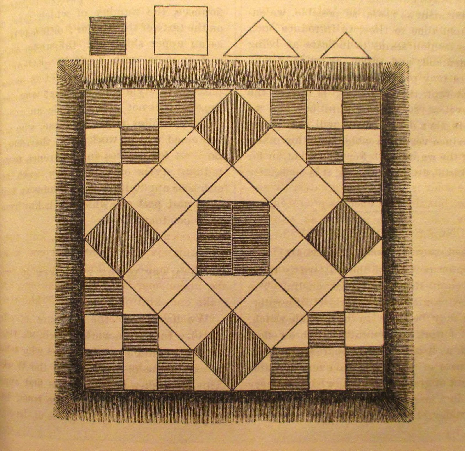 Patchwork Book Cover Pattern ~ The literate quilter patchwork patterns from godey s