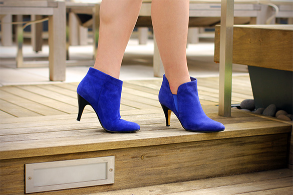 Top End Cobalt Blue Booties