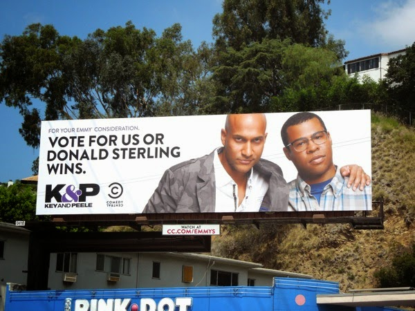 Key Peele Vote for us or Donald Sterling wins Emmy 2014 billboard