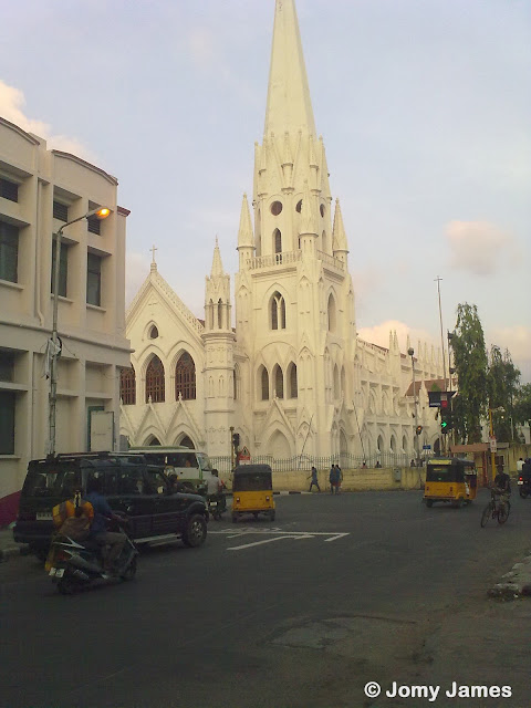 Roadside view of Santhome Church