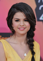 Selena Gomez beautiful side braid