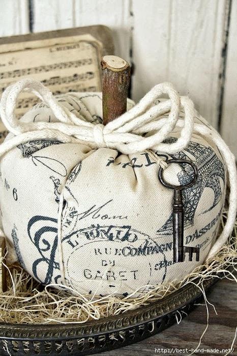 ВинтажныеВинтажные тыквы из ткани на Хэллоуин своими руками