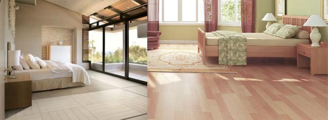 Consejos para dormitorios con piso de madera decoracion for Decoracion piso blanco