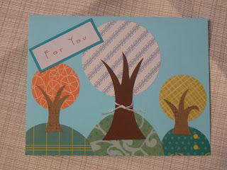 Greeting cards with freestyle trees