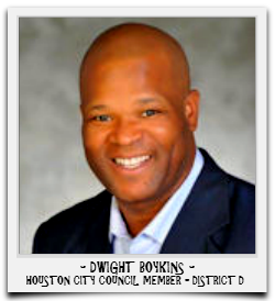 DWIGHT BOYKINS IS CURRENTLY SERVING HIS FIRST TERM