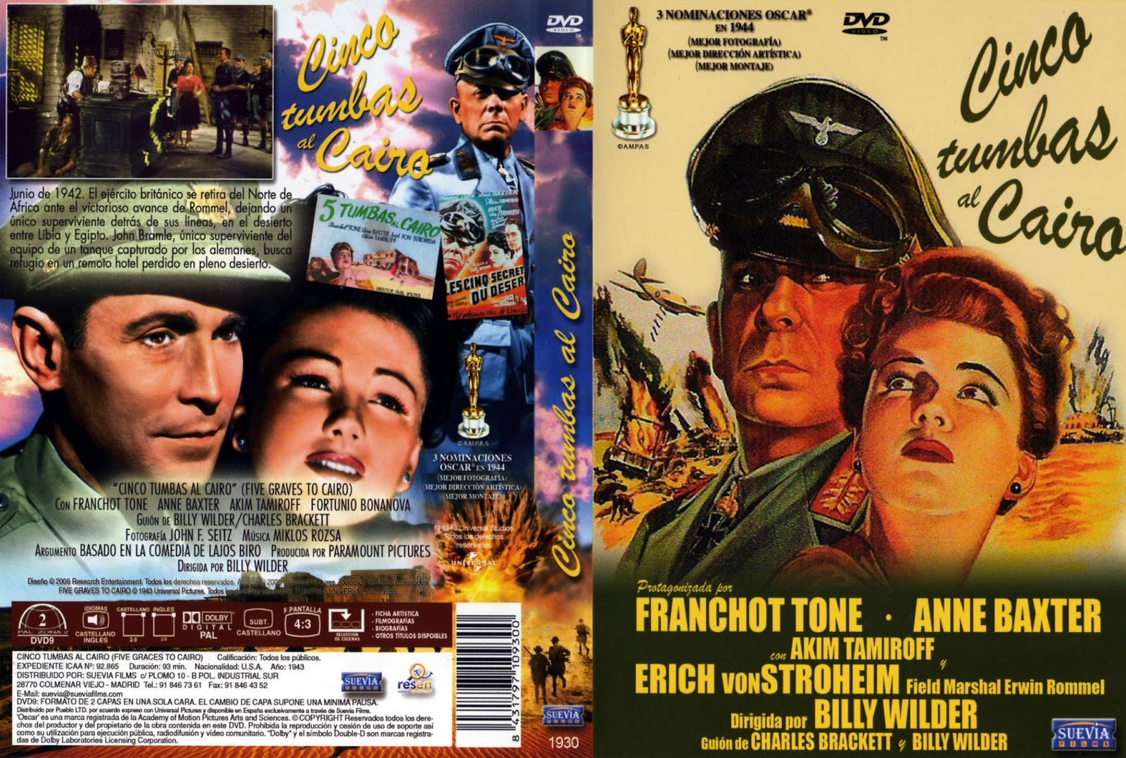 Cinco tumbas al cairo ( 1943 ) DescargaCineClasico.Net